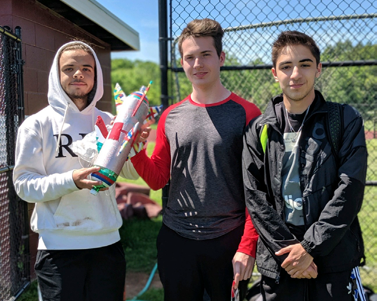 "Calculus and Precalculus Classes ""Blast Off"" on Rocket Day"