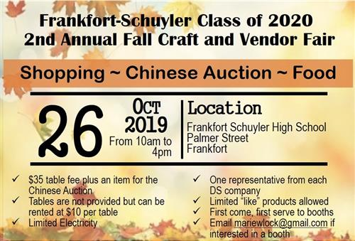 Fall Craft and Vendor Fair flyer
